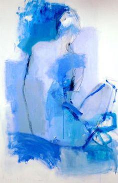 "Artist - Kate Long StevensonWoman, Blue ii acrylic gouache and charcoal on canvas 60x48"""
