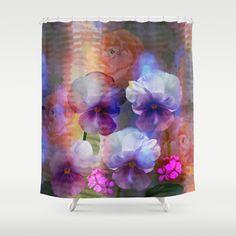 Paint me a garden Shower Curtain