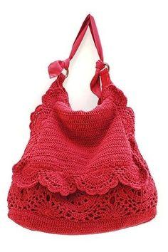 Moda tricot - Borsa tricot rosa