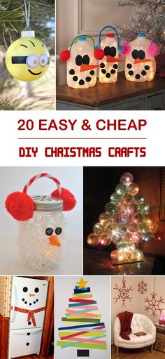 DIY Projects and Crafts — 20 Easy & Cheap DIY Christmas Crafts →