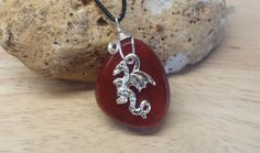Welsh dragon necklace. Men's necklace. Red by empoweredcrystals
