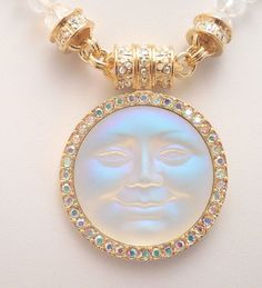 KIRKS FOLLY UNDER THE SEAVIEW MOON MAGNETIC NECKLACE GOLDTONE/ CRYSTAL AB #KirksFolly