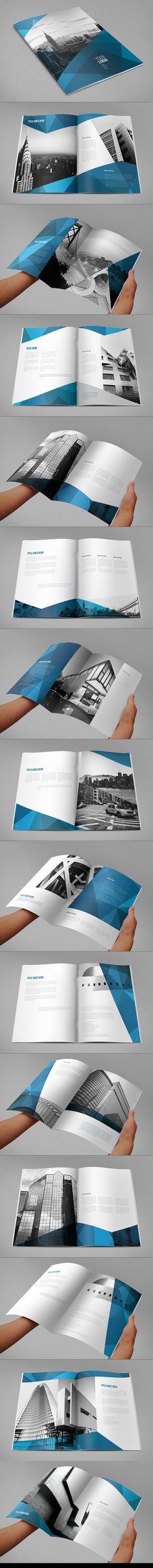 Abstract Architecture Vertical Brochure on Behance