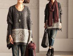 Nice!  Women's Knitwear Tops /Plus Size Sweater by KoshFashion