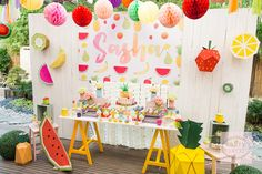 Tutti Frutti! | Fruity Birthday Party | Fruity dessert table | http://babyandbreakfast.ph/2016/09/12/tutti-frutti/ | Photo: Tyron Cruz