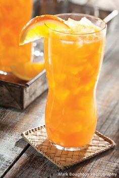 Blood Orange Bee Hive  Makes 1 beverage    5 oz. Blood Orange juice*  1 Tablespoon honey  1 oz. orange vodka  1/2 orange slice  Fill a Collins glass with ice and add all ingredients except orange slice. Tumble a few times back and forth into a shaker or another glass. Garnish with 1/2 slice of orange.    * or substitute 5 oz. regular orange juice with a splash of grenadine.
