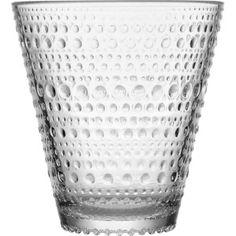 Kastehelmi 10 Oz Tumbler or Glass Set of 2 By Iittala (clear) by Iittala. Kastehelmi Tumbler Gold Glass Set of iittala (Clear). Wine Glass Set, Clear Glass, Gold Glass, Design Transparent, Clear Tumblers, Verre Design, Drinking Glass, Glass Birds, Pressed Glass