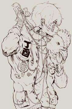 Illustration Manga Art, Anime Manga, Anime Guys, Anime Drawings Sketches, Cute Drawings, Character Inspiration, Character Art, T Art, Japan Design