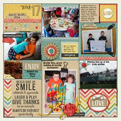 Kit: Daily Reminders, Heather Roselli and Meghan Mullens, SSD Elephant: Lliella Designs, SSD Template: 365 Unscripted-Stitched Grids Bundle,...