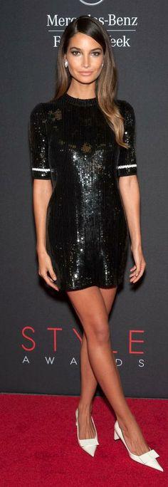 Lily Aldridge in Louis Vuitton