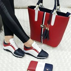 Nadire Atas on Matching Shoes and Bags 31 Gorgeous Shoes For Women That Are Amazingly Stylish And Fabulously Fashionable - Page 2 of 3 - Style O Check Sneakers Fashion, Fashion Shoes, Fashion Accessories, Sac Michael Kors, Shoe Boots, Shoe Bag, How To Make Shoes, Portfolio, Fashion Bags