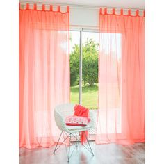 Um yes please! Home, Bedroom Makeover, Coral Curtains, Curtains, Home Deco, Neon Coral, Remodel Bedroom, Cosy Living Room, Master Bedroom Makeover