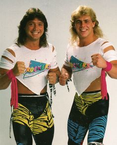1985-92: The Rockers were the pro wrestling tag team of Shawn Michaels & Marty Jannetty.