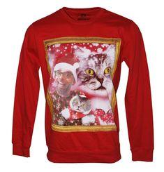 American Rag Cat Portrait Graphic Print Christmas Sweatshirt #AmericanRagCie #Pullover Christmas Sale, Christmas Sweaters, American Rag, Blue Beads, Graphic Prints, Crew Neck, Portrait, Cats, Sweatshirts