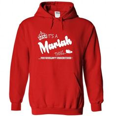 Its a Mariah Thing, You Wouldnt Understand !! Name, Hoo - #gift bags #couple gift. ACT QUICKLY => https://www.sunfrog.com/Names/It-Red-22373108-Hoodie.html?68278