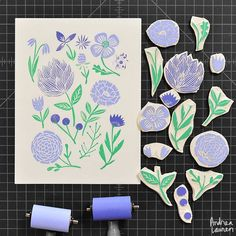 Andrea Lauren (@inkprintrepeat) | Carving some flowers until it is time to actually get out in the garden | Intagme - The Best Instagram Widget