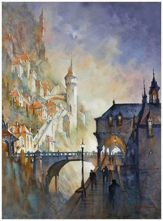 Watercolor by Thomas W Schaller, USA