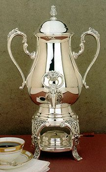 Burgundy Silver Coffee Urn server - Reed and Barton