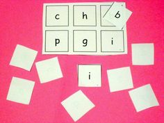 Letter Bingo- great way for children to learn to recognize letters or match capitals and lower case letters.