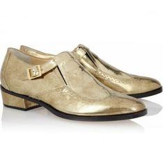 $192  Jimmy Choo Metallic leather monk-strap loafers