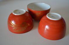 Set of three Japanese green tea cups, vintage Japanese ocha tea cups by StyledinJapan on Etsy