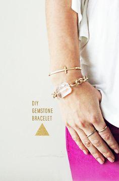 DIY Bracelet : DIY Gemstone Bracelets