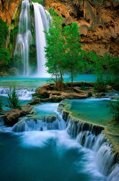 ✮ Havasu Canyon by Inge Johnsson ~ Grand Canyon, Havasu Falls Arizona* Beautiful World, Beautiful Places, Beautiful Pictures, Beautiful Waterfalls, Beautiful Landscapes, The Places Youll Go, Places To Go, Nature Wallpaper, Wallpaper Wallpapers