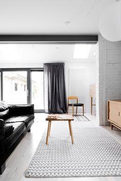 loft kolasinski © karolinabak lovely open space with long curtains