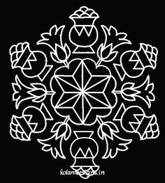 pongal pulli kolam Rangoli Patterns, Rangoli Designs With Dots, Kolam Rangoli, Flower Rangoli, Floor Design, Pattern Design, Projects To Try, Quilts, Festivals