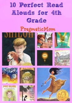 What are your favorite books for 4th grade? Here are mine.10 Perfect Read Alouds for 4th Grade :: PragmaticMom