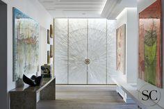 Gypse Gypum Doors by JALLU Résidence privée, Paris, designed by Stephanie Coutas.