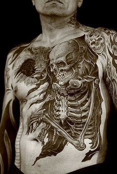 Skeleton chest and stomach piece