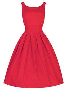 Sleeveless Party Vintage Dress - Full Skirt / Wide Cummerbund