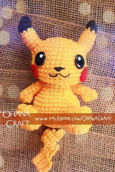 Pika amigurumi crochet doll by Ohana Craft