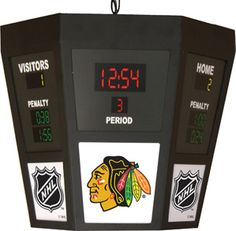 Chicago Blackhawks Octagon Scoreboard Light
