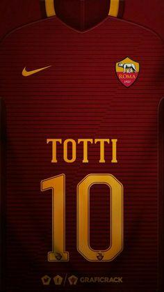 AS Roma 16-17 kit home Francesco Totti #10