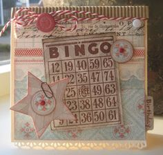 Creabest: Bingokaartje en corrugated cardboard door Boukje van der Weit
