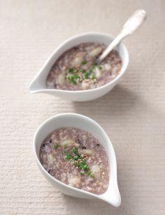 [힐링푸드 이야기] 건강이 가득 담긴 한 그릇 죽과 밥 ④ 흑미마늘죽