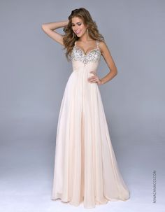 #PromDress #PromGown #Prom2015 Stunning Style in stock in Nude/Gold & Coral Pink!  Sizes 0 to 24!!  We <3 Prom!!