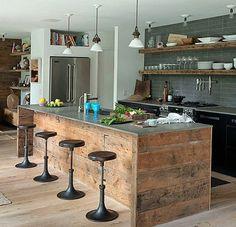 kche mit kochinsel in hamptons - Kche Mit Kochinsel Und Tisch