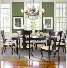 Thomasville Furniture Coterie Cherry Dining Table Set #Thomasville