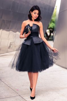 Nha_Knank_Leda_leather_tulle_strapless_dress.jpg (700×1050)