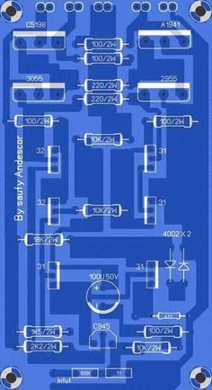 High Power Audio Amplifier Layout Diagram Circuit over in the most important influence whether or not , and many more are affected in this final amplifier circuit. New Electronic Gadgets, Electronic Circuit, Electronic Schematics, Power Supply Circuit, Powered Subwoofer, Cool Electronics, Circuit Design, Susa, Stereo Amplifier