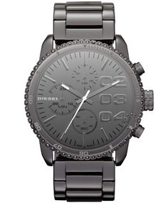 DIESEL Chronograph Black Stainless Steel Bracelet  Τιμή : 234€  http://www.oroloi.gr/product_info.php?products_id=32006