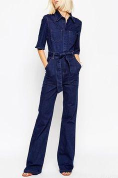 87de7302a7 European Fashion Slim Denim Overalls 2016 Summer Casual Elegant Jumpsuit  Cargo Pants Plus Size Playsuit Rompers Womens Jumpsuit