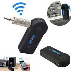 Receptor inalámbrico bluetooth altavoz adaptador de auriculares de 3.5mm de audio estéreo receptor de música inicio enchufe universal de manos libres bluetooth