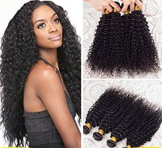 Romantic Angels 20 »(50cm) Afro Kinky Extensions de Cheveux Bouclés, Remy Cheveux Humains Tissage, 1 Bundle Lot 100g, Naturel Noir#1b