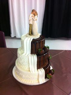 Half White Chocolate Wedding Cake From The Pastry Studio Daytona Beach Fl