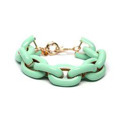 Mint Enamel Link Bracelet | Shinymix