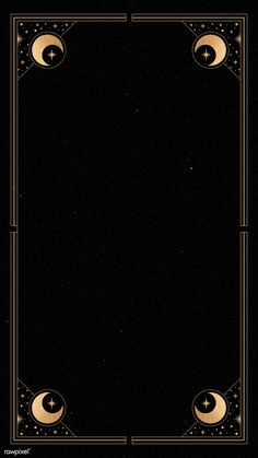Download premium vector of Mystical gold frame on black background mobile phone wallpaper by Tang about mystical, moon, night, framework, and black frame 1224048